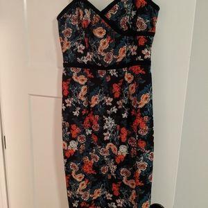 Black Halo floral dress